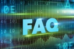 FAQ text concept Stock Photography