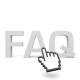 Faq. Text with a cursor Royalty Free Stock Images