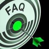 FAQ toont vaak Gestelde Vragen Royalty-vrije Stock Fotografie