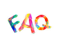 FAQ. Triangular colorful letters Royalty Free Stock Photo