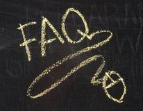 FAQ uttrycker Arkivfoto