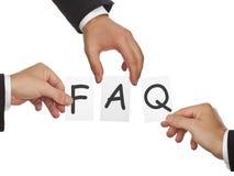 FAQ - vaak gestelde vragen Royalty-vrije Stock Afbeelding