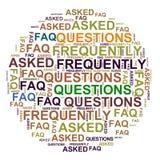 FAQ - vaak gestelde vragen vector illustratie