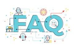 FAQ: Vaak gestelde vragen vector illustratie
