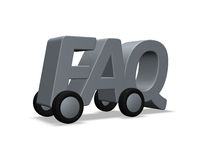 Faq on wheels Stock Photos