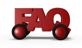 Faq on wheels Royalty Free Stock Photos