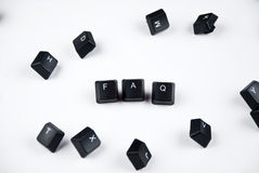 FAQ word royalty free stock images