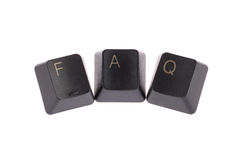 Faq word Stock Image