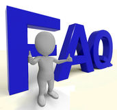 Faq Word As Sign For Information Or Assisting Stock Photos