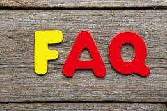 FAQ word Stock Photo