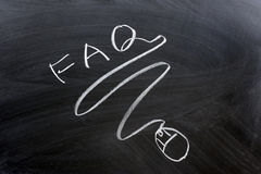 FAQ word and mouse Stock Images