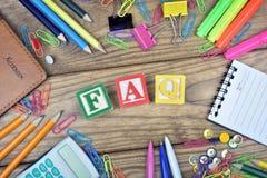 Faq word Stock Images