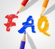 FAQ Word représente la foire aux questions et la réponse illustration stock