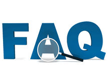Faq Word Shows Faqs Advice Or Questions Royalty Free Stock Photo