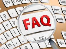 FAQ-Zoom auf Tastatur Stockfotos