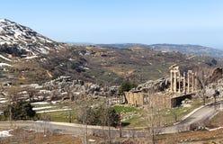 faqra Lebanon rzymskie ruiny świątynne Fotografia Stock