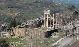faqra Lebanon rzymskie ruiny świątynne Zdjęcie Royalty Free