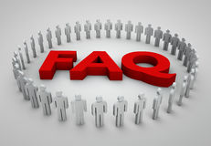FAQs 3D Text2. FAQs 3D Text with people concept image Stock Photos