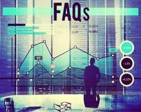 FAQs Dobrowolnie Pytać pytania Biznesowego planowania pojęcie zdjęcie royalty free