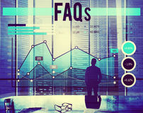 FAQs Frequently Asked Questions Business Planning Concept Royalty Free Stock Photo