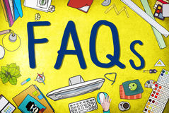 FAQS Frequently Asked Questions Information Concept Stock Photo