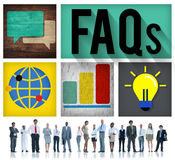 FAQs Guidance Answers Questions Feedback Concept Royalty Free Stock Photo