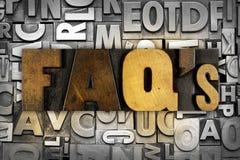 Faqs vanliga frågor Arkivfoton