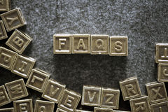 FAQs Stock Image