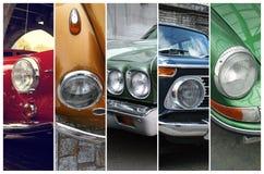 Faróis clássicos do carro Fotografia de Stock