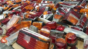 Faróis do carro para a venda Imagem de Stock