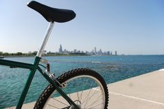 Far away. Bike is taking a rest, far away from Chicago Stock Photography
