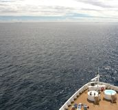 Far away. Cruising on the open ocean with the NCL Norwegian Dawn Stock Image