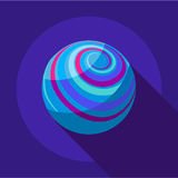 Far away planet icon, flat style Royalty Free Stock Image