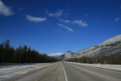Far away in Rocky Mountains, Canada. Canadian Rocky Mountains give us feeling of real freedom, mostly untouched, wild and formed by power of nature Royalty Free Stock Photos