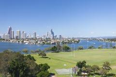 Far away shot of Surfers Paradise, Australia Royalty Free Stock Photography