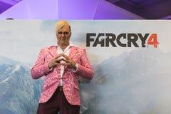 Far Cry character posing at Games Week 2014 in Milan, Italy Royalty Free Stock Photos