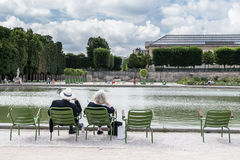 Relaxing in the Tuileries Gardens Stock Image
