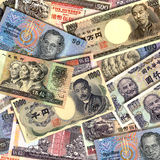 Far East Currencies. Banknotes of Far Eastern countries stock photography