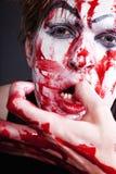 far för blodframsidahand Royaltyfria Bilder