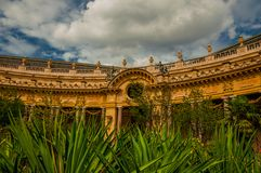 """Far-fetched decoration of arch and columns at the Petit Palais courtyard in Paris. Known as the """"City of Light"""", is one of the most impressive world's Royalty Free Stock Images"""