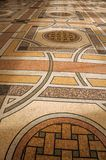 """Far-fetched decoration mosaic on floor on the entrance hall at the Petit Palais in Paris. Known as the """"City of Light"""", is one of the most impressive world Royalty Free Stock Photo"""
