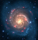Far galaxy. Spiral space galaxy with stars Stock Images