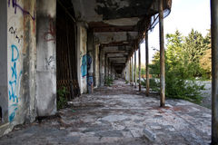 Far ghost in abandoned city royalty free stock image