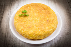 Spanish potato omelet Royalty Free Stock Image