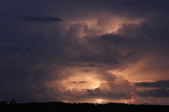 Lightning storm in the clouds Royalty Free Stock Image