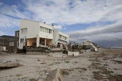Far Rockaway after Hurricane Sandy. NEW YORK - October 31:Destroyed homes in  Far Rockaway after Hurricane Sandy October 29, 2012 in New York City, NY Stock Photo