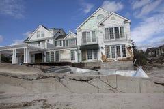 Far Rockaway after Hurricane Sandy. NEW YORK - October 31:Destroyed homes in  Far Rockaway after Hurricane Sandy October 29, 2012 in New York City, NY Royalty Free Stock Photo