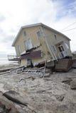 Far Rockaway after Hurricane Sandy. NEW YORK - October 31:Destroyed homes in  Far Rockaway after Hurricane Sandy October 29, 2012 in New York City, NY Royalty Free Stock Photos