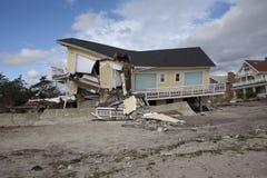 Far Rockaway after Hurricane Sandy. NEW YORK - October 31:Destroyed homes in  Far Rockaway after Hurricane Sandy October 29, 2012 in New York City, NY Stock Photos
