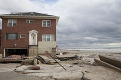 Far Rockaway NY after hurricane Sandy Stock Photography